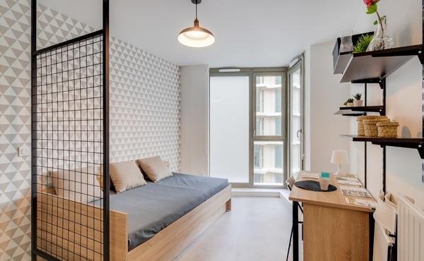 Location Studio 21 M² Paris 19e 908