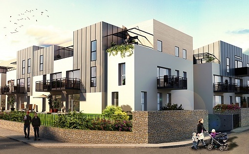 achat appartement neuf 4 pi ces 85 m brest 282 000. Black Bedroom Furniture Sets. Home Design Ideas