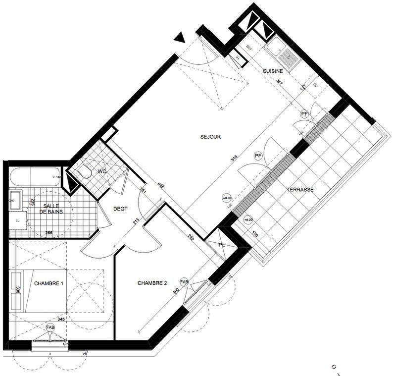 Appartement 3pièces 56m² à Taverny