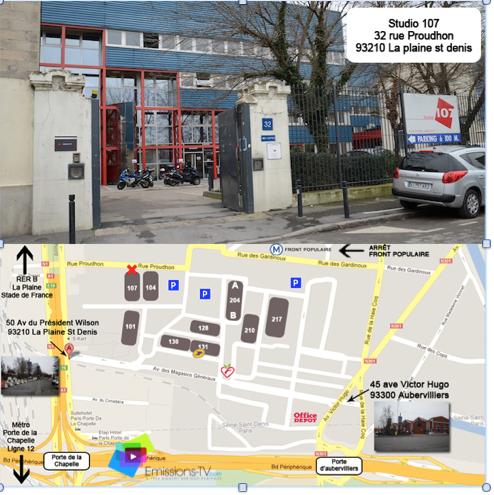 Studio de France - Bât 107 - par rue Proudhon