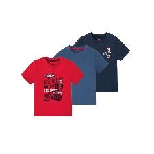 LUPILU® Kleinkinder T-Shirts Jungen, 3 Stück - Kleinkinder Jungen Shirts
