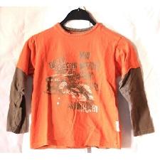 Kikstar Offroad Safari Pullover langärmliges Jungen Kinder Sweatshirt Orange 128