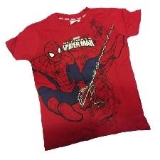 Spiderman Spiderman T-Shirt Rot aus 100% Baumwolle Verschiedene Größen von Junge
