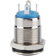 Robust Knopfschalter 12 Mm Automatischer Reset-Typ Blauer Druckknopf Edelstahl