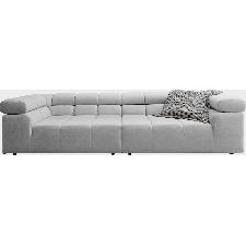 INOSIGN Big-Sofa Ancona, mit auffälliger Steppung, inkl. 2 Zierkissen und verstellbaren Kopfstützen