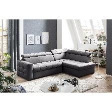 exxpo - sofa fashion Ecksofa, Steppung im Sitzbereich, Wahlweise mit Bettfunktion und Bettkasten, inklusive 3 verstellbaren Kopfstützen