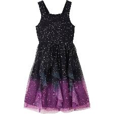 Festliches Mädchen Kleid mit Glitzer