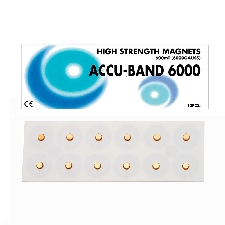 Imán Accu-Band Chapado en Oro 6000 gauss: Diámetro 5 mm (12 unidades)