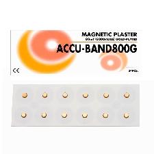Imán Accu-Band Chapado en Oro 800 gauss: Diámetro 5 mm (24 unidades)