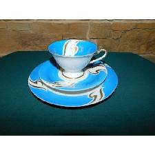 Taza de Colección Taza Plato Platillo Emebellecedor Decoración Azul Schaubach