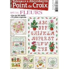 POINT DE CROIX N°52 TABLEAUX & ABECEDAIRES SPECIAL FLEURS 300 MOTIFS 20 GRILLES