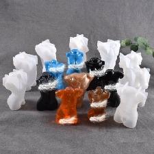 Bougie Moules Résine Coulée Torse Savon Moule Figurine Sculpture Outils