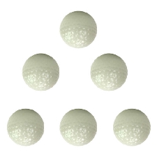 Lot de 6 balles de golf brillantes foncées Balles de golf brillantes longue