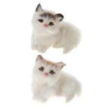 2pcs chaton chat décor à la maison table ornements enfants enfant cadeau