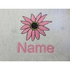 Dalila Design Brodé Sur A Robe Adulte Avec Personnalisé Nom Fleur Fleurs