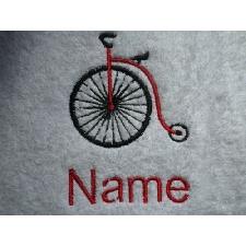Bicycle Design Brodé Sur A Robe Adulte Avec Personnalisé Nom Vélo