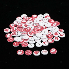 Paquet de 100 boutons en bois à coudre boutons pour enfants 2 trous bricolage