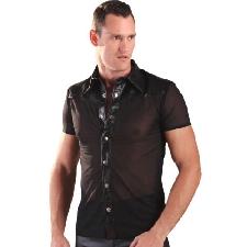 Chemise en Cuir & Nylon pour Hommes