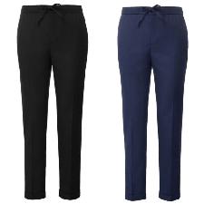 Polyester + Viscose Hommes Pantalon Cordon Taille Desseré Décontracté Tout Neuf