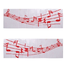 UNIVERSAL Music Note Decal Car Home Window Vinyl Red Rock classique