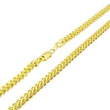 """14k solide or jaune tressé Sétaire blé Bracelet 7/"""" 3.5 mm Femmes"""