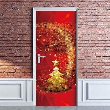 Noël Creative Stickers Porte Fenêtre En Verre Stickers Muraux Stickers Porte En Bois @Yeigen2342