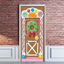 Noël Creative Stickers Porte Fenêtre En Verre Stickers Muraux Stickers Porte En Bois @Yeigen2383