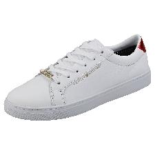 Tommy Hilfiger Essential Sneaker Femme Baskets Mode Blanc
