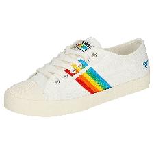 Gola Coaster Rainbow Femme Baskets Mode Blanc Multicolore