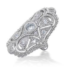Gatsby Le Magnifique De Femmes Inspirã Cz Style Vintage Pleine De Bague Armure
