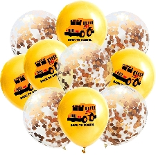 10pc 12inch École Saison D'autobus Scolaire Ballon Latex Back To School Party Décor