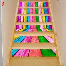 2019 Meubles Décoration Nouveau Escalier Autocollants D'escalier De Noël @Doauhao1869