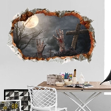 Halloween Wall Sticker Salon Chambre Décor Autocollant Salon Bricolage @Doauhao7602