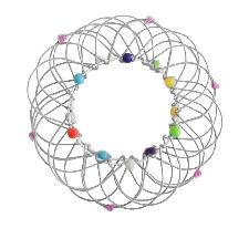 Ornement D'anneau Magique En Acier Doux De Panier Flexible De Décompression