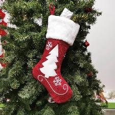 Décorations De Noël De Sapin De Noël De Sac Cadeau De Chaussettes Rouges Noires De Mode De Noël