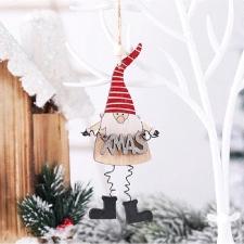 Pendentif En Bois De Noël Décoration De Poupée En Bois Coloré