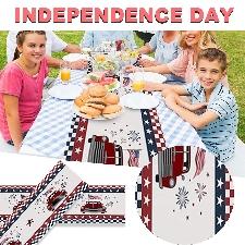 Table Et Cuisine Drapeau Des États-Unis Camions De Ferme Drapeaux Fête L'indépendance 33x229cm -B