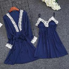 R17A Spot on F8R855 Femme Bleu Plat Ballerine Chaussures