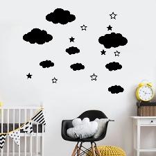 Nuages ??Bricolage Stickers Muraux Chambre D'enfant Décoration Art Fua4467