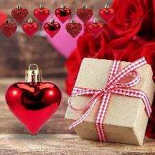12pcs Décorations De La Saint-Valentin Ornements De Coeur Cadeaux Romantiques De La Saint-Valentin_Z1913