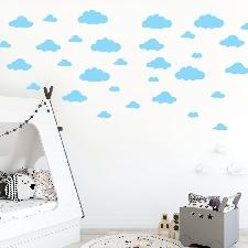 31pcs Bricolage Gros Nuages ??Stickers Muraux Chambre D'enfant Décoration Art