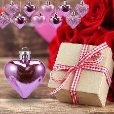 12pcs Décorations De La Saint-Valentin Ornements De Coeur Cadeaux Romantiques De La Saint-Valentin_Z1912