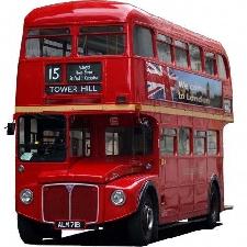 Londres Sticker Adhésif Mural Autocollant - Bus Rouge