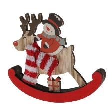 Noël bois cheval à bascule jardin d'enfants suspendus décors enfants