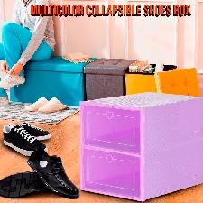2pc Pliable Clair Chaussures Boîte De Rangement En Plastique Empilable Organisateur De Chaussures