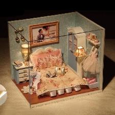 3d Bricolage Maison De Poupée En Bois Bébé Maisons De Poupée Miniature Maison De Poupée Kit De Meubles Maison De Poupée Miniatures Accessoires Bébé Ca
