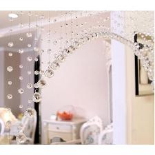 1 Luxe Perles De Verre Porte Chaîne Gland Rideau De Mariage Diviseur Panneau Chambre Décor 3qw0525