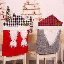 Haute Qualité Facile À Utiliser Dessin Animé Créatif Forêt Homme Chaise De Noël Chaise De Noël Couverture Arrière