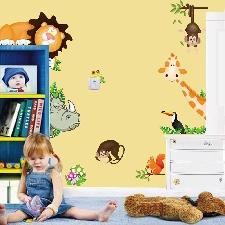 Autocollants Muraux En Vinyle Ukina Autocollant Mural? Animal Sauvage De La Jungle? Décor Pour Chambre De Bébé? Pour Enfants