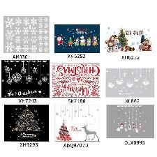 Hean Autocollant De Noel Amovible Vitrine Murale Fenêtre Verre Autocollant Noel Arbre Motif Decalcomanie Decorations De Noel Pour La Maison Navidad 20